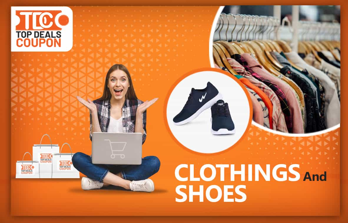 Clothings And Shoes banner topdealscoupon